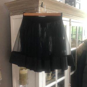 BEBE Black Fishnet Skirt, M/L
